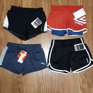 4 pair girls sport shorts